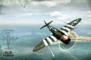 airplane war thunder p-47 thunderbolt war aircraft world war ii