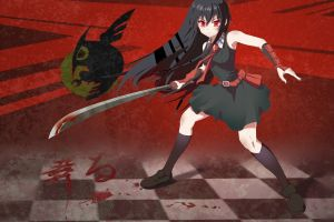 akame anime girls sword blood anime akame ga kill!