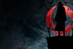 akatsuki silhouette anime uchiha itachi naruto shippuuden sharingan