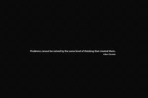 albert einstein minimalism quote typography