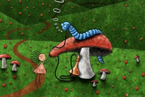 alice in wonderland vladstudio mushroom
