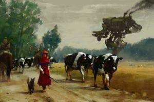 alternative history 1920 painting digital art jakub różalski artwork
