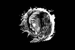 alternative rock simple background alternative metal  open mouth in flames heavy metal hands siren charms cover art black background face album covers fantasy art