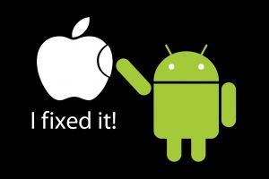 android (operating system) green logo humor black background apple inc.