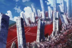 angel anime neon genesis evangelion city