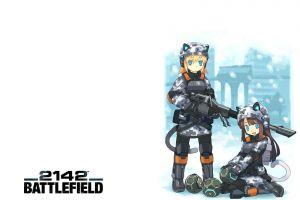 animal ears anime girls machine gun battlefield