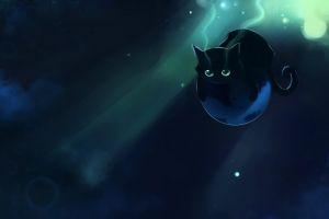 animals cats fantasy art apofiss bubbles