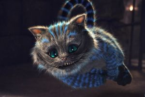 animals fantasy art alice in wonderland cheshire cat