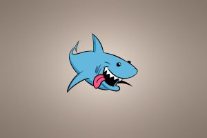 animals shark tongues simple background humor teeth drawing smiling minimalism