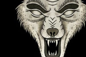 animals wolf metal artwork