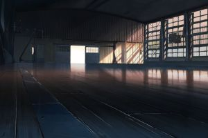 animation gyms basketball anime artwork room