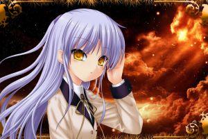 anime angel beats! tachibana kanade school uniform anime girls
