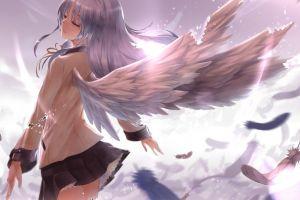 anime angel beats! tachibana kanade wings angel anime girls
