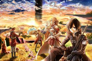 anime anime boys sword art online anime girls fantasy art