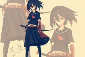 anime anime girls akame ga kill! kurome