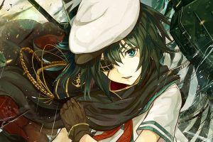 anime anime girls eyepatches kantai collection eye patch kiso (kancolle)