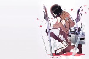 anime anime girls mikasa ackerman shingeki no kyojin