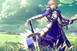 anime anime girls saber fate series