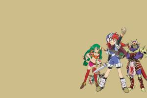 anime anime girls simple background