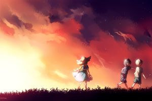 anime anime girls sword art online sunlight anime boys sky