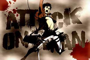 anime boys artwork eren jeager anime shingeki no kyojin
