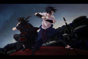 anime boys konoha brothers uchiha sasuke uchiha itachi akatsuki anime naruto shippuuden sword