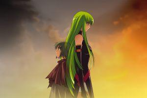 anime c.c. green hair code geass anime girls