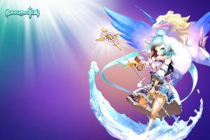 anime fantasy art anime girls soulmaster digital art