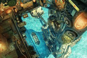 anime fantasy art fantasy city