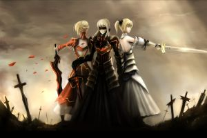 anime fate series saber lily sword saber saber alter anime girls fate/stay night saber extra