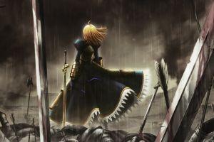 anime fate/zero anime girls saber fate series