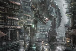 anime futuristic science fiction robotic artwork