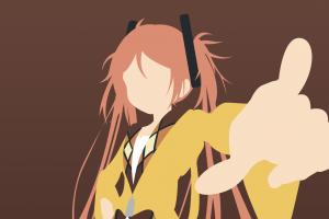 anime girls aihara enju minimalism anime vectors vector black bullet twintails