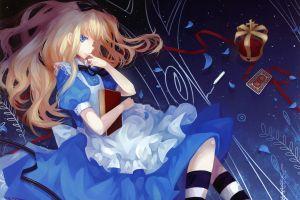 anime girls alice in wonderland dress