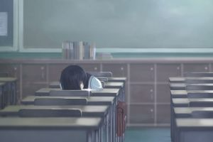 anime girls alone sleeping anime