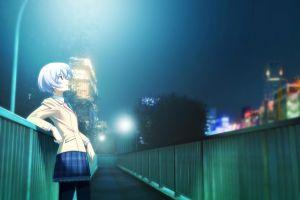 anime girls anime chaos;head school uniform
