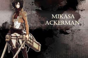 anime girls anime mikasa ackerman shingeki no kyojin anime girls