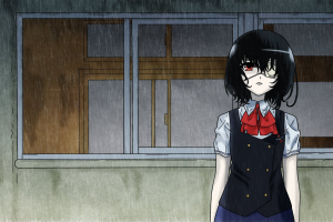 anime girls anime misaki mei another school uniform