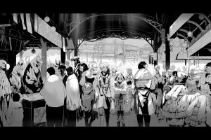 anime girls anime monochrome