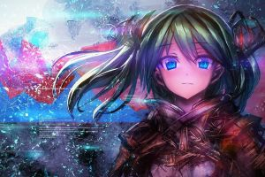 anime girls blue eyes vocaloid artwork text op-center long hair hatsune miku anime twintails
