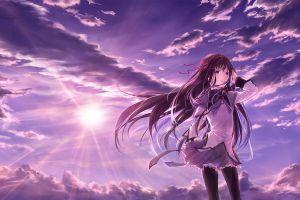 anime girls gun anime akemi homura mahou shoujo madoka magica