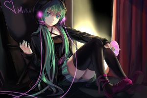 anime girls hatsune miku anime