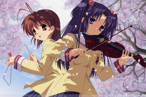 anime girls katana anime