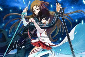 anime girls kirigaya kazuto anime yuuki asuna sword art online video games