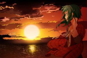 anime girls sun vocaloid megpoid gumi anime