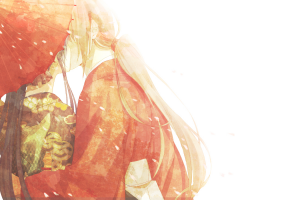 anime himura kenshin traditional clothing umbrella rurouni kenshin kamiya kaoru kissing