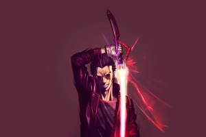 anime no more heroes sword men lightsaber