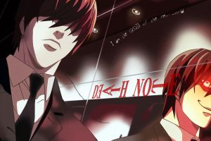 anime red eyes death note tie anime boys