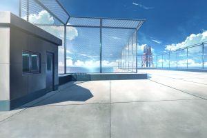 anime rooftops balcony