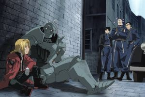 anime roy mustang elric alphonse elric edward